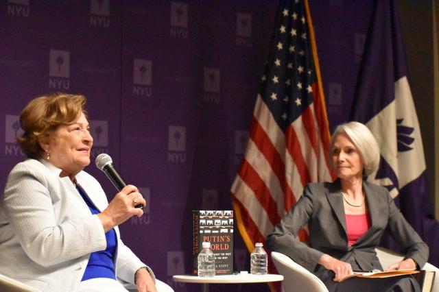 9.09.2019 w NYU Washington, D.C. odbyło się spotkanie z Dr. Angelą Stent, autorką książki Putin's World: Russia Against the West and with the Rest. Spotkanie prowadziła była korespondent CNN w Moskwie, Jill Dougherty.