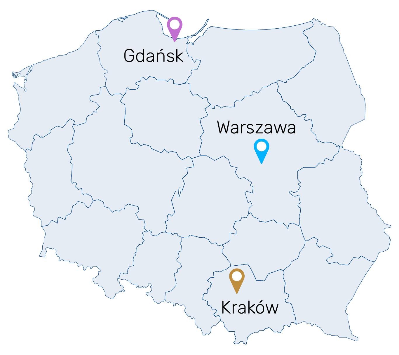 SAT w Polsce można zdawać w trzech miastach w centrach egzaminacyjnych